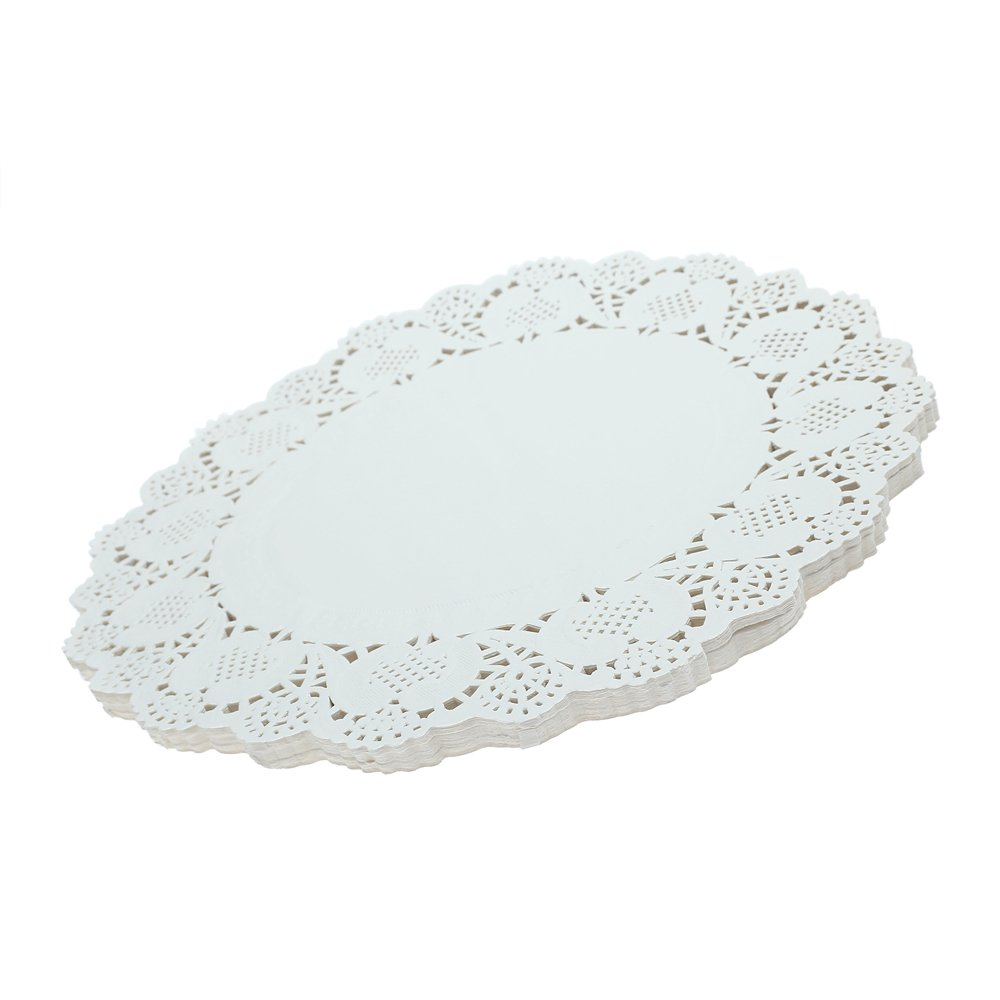 Doilies Paper Lace 12'' Round Off White Cake Placemats Crafting Coaster of Table Supplies Decoration 200pcs by Crystallove (Image #7)