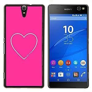 Stuss Case / Funda Carcasa protectora - Corazón Cita del amor de texto minimalista - Sony Xperia C5 Ultra
