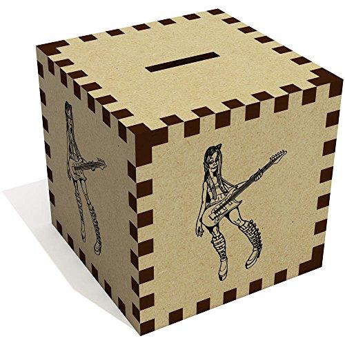 Azeeda 'Rock Chick with Guitar' Money Box / Piggy Bank (MB00040503)