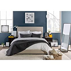 Bedroom California King Bed Frame with HEADBOARD Very Sturdy and Comfortable Bed Frame California King with Wooden Slat Support… modern beds and bed frames