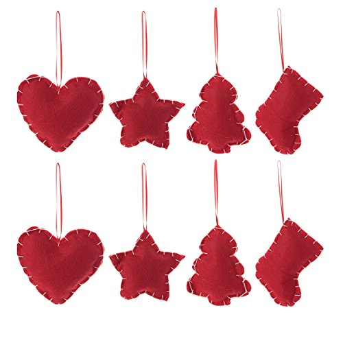 Christmas Tree Ornaments Stocking Decorations - 8pcs Christmas Stocking Tree Heart Star Holiday Party Decor