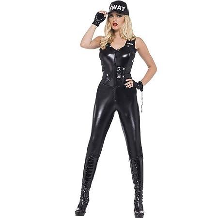 Fashion-Cos1 Traje de Fiesta de policía Sexy, Mujer ...
