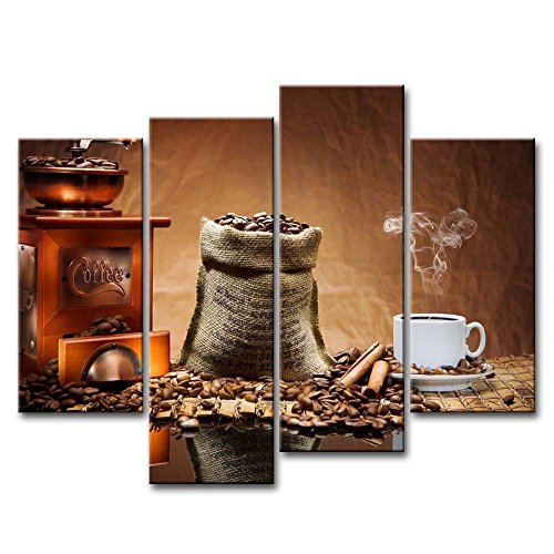 Framed Brown Coffee Bean Cafe Wall Art Food Pictures