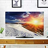 Auraisehome tv dust Cover Sunshine Clouds Nature Mountain and Valley Sun Divider in College Landscape Home White Dust Resistant Television Protector W19 x H30 INCH/TV 32''