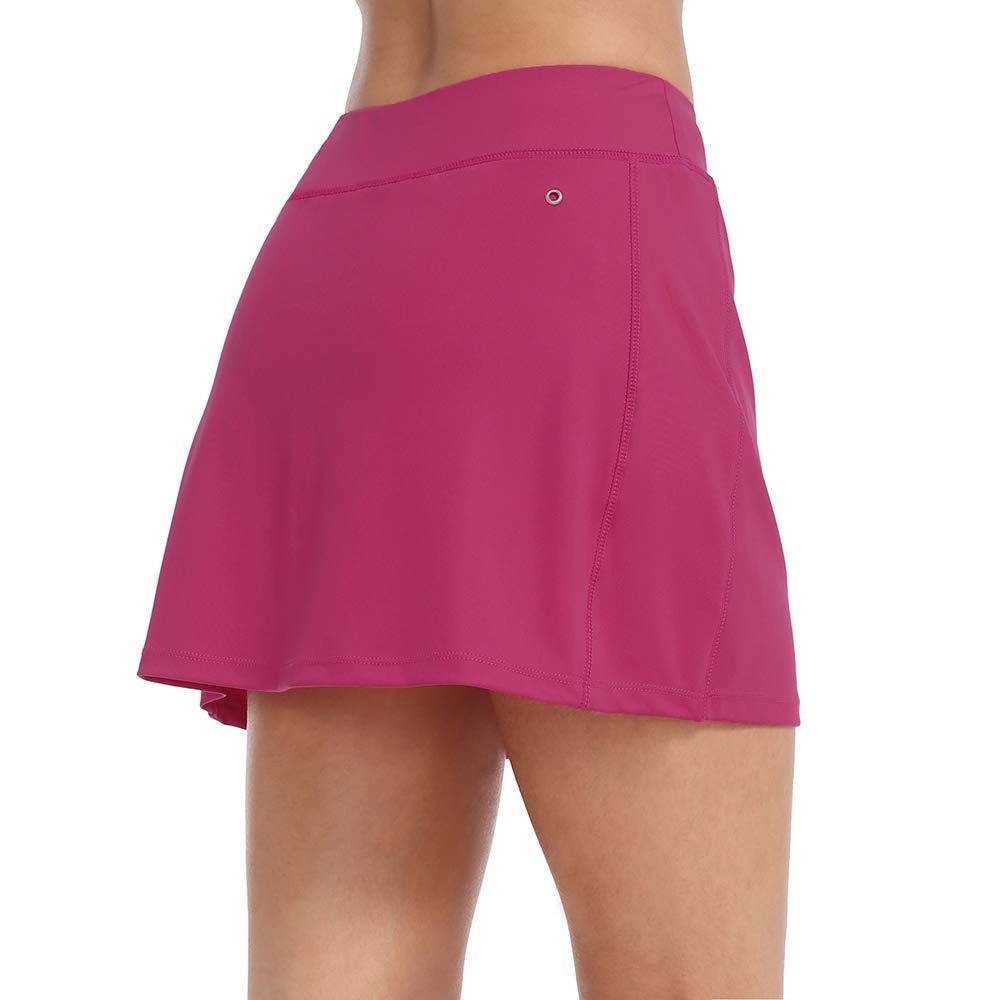 ZEALOTPOWER Tennis Skorts for Women with Pockets Sports Black Golf Skirts Running Athletic Summer by ZEALOTPOWER