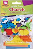 Creative Hands by Fibre-Craft - Mini Church Foam Stickers 240/Pkg - Arts and Crafts - No Glue or Scissors Required - For Ages 3 and Up
