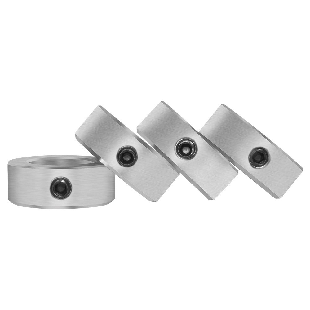 Aobbmok 5//8 Bore Solid Steel Style Zinc Plated Set Screw Shaft Collars for Lawn Tractor,Garage Doors