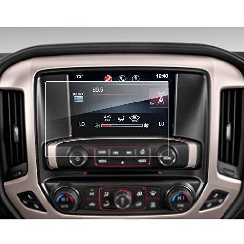 Lfotpp Gmc Sierra 1500 2500Hd 3500Hd 8 Inch Intellilink 2016 2017 Car Navigation Screen Protector   9H  Tempered Glass Center Touch Screen Protector Anti Scratch High Clarity