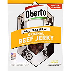 Oberto All Natural Original Beef Jerky, 3.25 Ounce (Pack of 4)