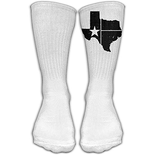 Distressed White Texas State Flag Compression Thigh High Socks For Women And Men   Baseball Sport Long - Canada Online Tax