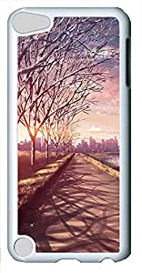 iPod 5 Case landscapes nature road 70 PC Custom iPod 5 Case Cover White