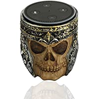 Echo Dot Holder Stand Skull Retro Design for Amazon Echo Dot 2nd and 1St Generation Speaker Guard Stand Mount Base, Alexa Echo Dot Case Cover, Echo Dot Accessories