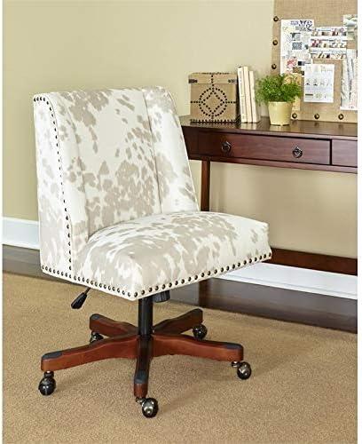 Linon Draper Wood Upholstered Office Chair