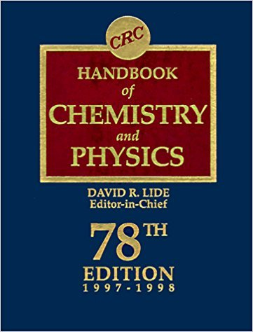 CRC Handbook of Chemistry and Physics: A Ready-Reference Book of Chemical and Ph