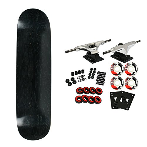 (Moose Complete Skateboard STAINED BLACK 8.5