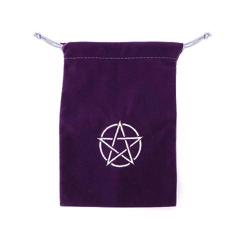 MYA - Bolsa de Tarjetas de Tarot de Terciopelo Pentagrama ...