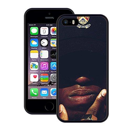 afrikanisch | Handgefertigt | iPhone 5 5s SE | Schwarze Hülle