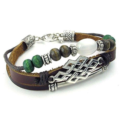 KONOV Leather Bracelet Vintage Adjustable