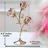 Matashi 24K Gold Plated Rose Flower Tabletop