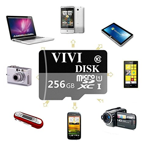 256GB Micro SD Card High Speed Class 10 Micro SD SDXC Card TF Card with Adapter (XC256-2) by VIVI Disk (Image #2)