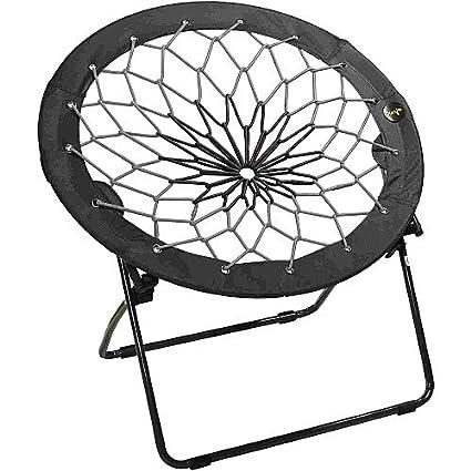 amazon com bunjo bungee chair black gray black to grey black rh amazon com
