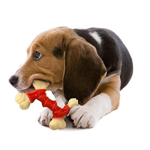 Nylabone Power Chew Dura Chew Double Bone, Bacon Dog Chew Toy, Medium