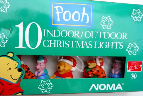 Winnie the Pooh 10 Indoor/outdoor Christmas Lights ()