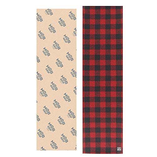 Mob Clear Skateboard Grip Tape + Globe Buffalo Plaid 2 Sheets to Customize Deck