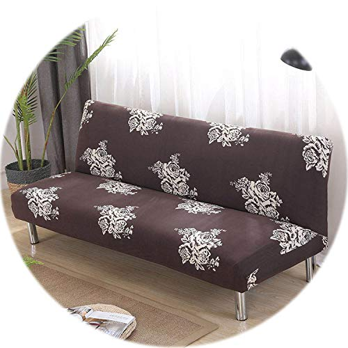 New face Printed Armless Sofa Bed Cover Stretch Couch Covers funda Sofa Couch Protector Elastic Futon Cover Spandex cubre Sofa,Color 8,160cm-190cm