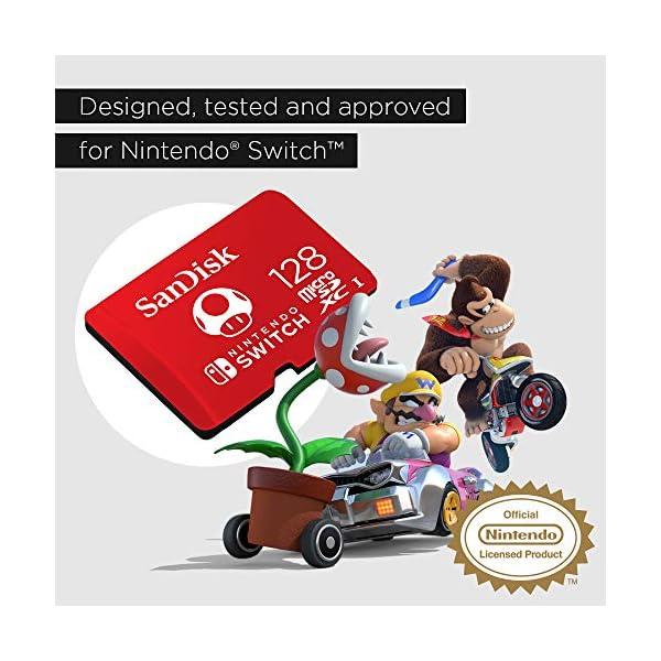 SanDisk 128GB microSDXC UHS-I-Memory-Card for Nintendo-Switch - SDSQXAO-128G-GNCZN 4