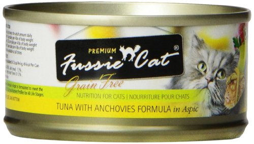 Fussie Cat Premium Tuna with Anchovies Cat Food - 24 - 2.82-