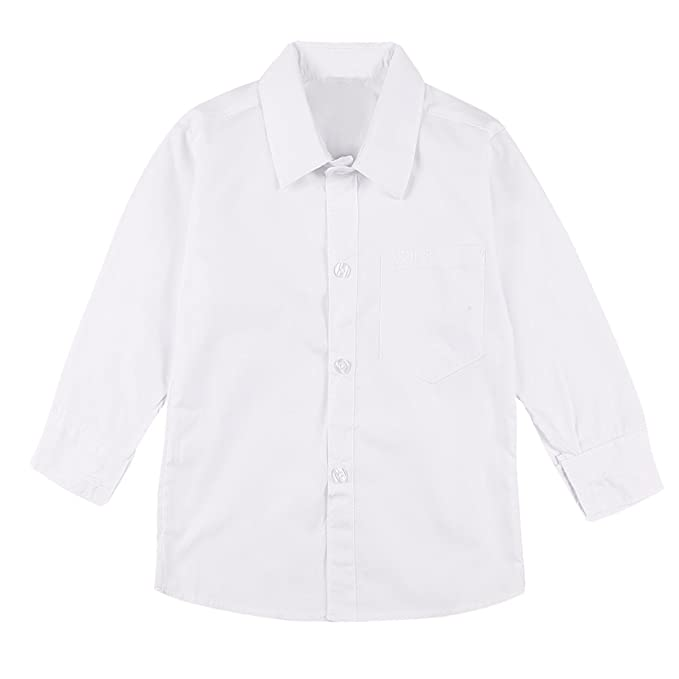 inlzdz Uniforme Escolar Niños Camisa Blanca Manga Larga ...