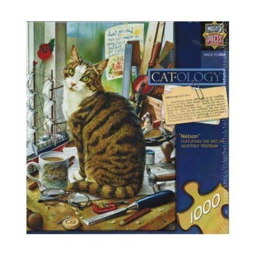 Cat-ology Nelson by Geoffrey Tristram 1000 piece Puzzle Jigsaw Puzzle piece by Master Puzzles b8da6b