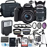 Canon EOS Rebel SL3 DSLR Camera Bundle with Canon EF-S 18-55mm STM Lens + 32GB Sandisk Memory + Camera Case + Digital Flash + Accessory Bundle