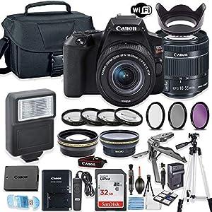 Best Epic Trends 51knCptfkCL._SS300_ Canon EOS Rebel SL3 DSLR Camera Bundle with Canon EF-S 18-55mm STM Lens + 32GB Sandisk Memory + Camera Case + Digital…