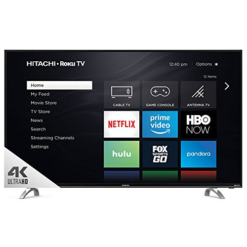 "Hitachi 55RH1 55"" UHD with HDR Roku Smart LED TV, ..."