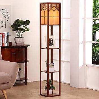 JHLDD Floor Lamp Shelf Bedside Bedroom Lights Living Room Study Lamp Bookshelf (Color : B)