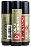 Duke Cannon Balm Tactical Lip Protectant, 0.56oz with SPF 15-3 Pack