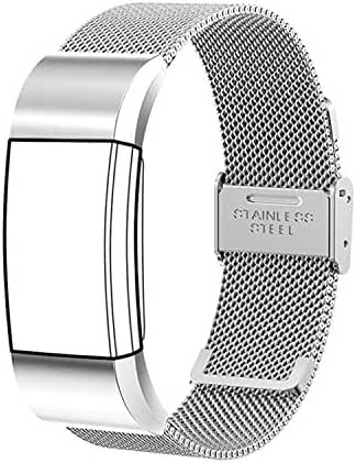 For fitbit charge 2 Bands,TreasureMax Stainless Steel Replacement Accessory Bracelet Band,Large,Small,Metal Bands for Fitbit Charge 2 band/Charge 2 Bands/Fitbit Charge 2(No Tracker)