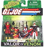 : Agent Jinx & Cobra Slice GI Joe Venom vs. Valor Action Figures
