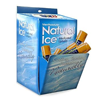 Mentholatum Natural Ice Sunscreen Lip Protectant SPF 30 Sport 1 Each Pack of 48