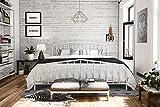 Novogratz Bushwick Metal Bed, King, White