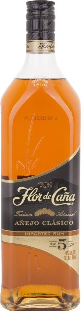 Ron - Flor de Caña 5 Años 1L: Amazon.es: Alimentación y bebidas