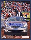 CHARLIE MANUEL Phillies Signed 8x10 PROGRAM INSERT PSA/DNA