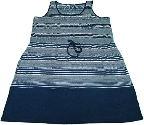 - Olive & Oak Ladies Size Small Casual Summer Drawstring Sundress Navy & White