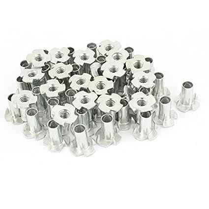 DealMux - Lote de 50 piezas de 4 pontas zincado T-Nut T porca ...