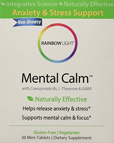 Tabs Rainbow Light (Rainbow Light - Mental Calm, 30 Count, Natural Anxiety & Stress Support)