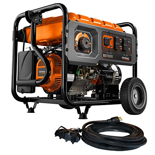 Generac 6673 7000W Gas-Powered, Portable Generator (Generac Generator Gas)