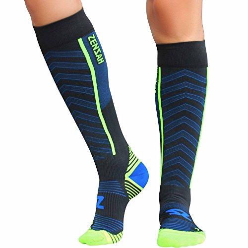 Zensah Featherweight Compression Socks - Ultra-Lightweight Compression Socks - Anti-blister, Graduated Compression