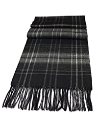 Urban Edge Pure Wool scarf (100%). Soft and generous size. Classic design. in retail box. Various colors. (black/grey)
